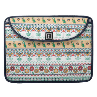 Frida Kahlo | Patrón de Colores Sleeve For MacBooks