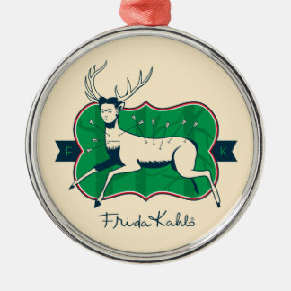 Frida Kahlo | The Wounded Deer Silver-Colored Round Ornament