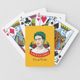 Frida Kahlo | Viva la Vida Bicycle Playing Cards