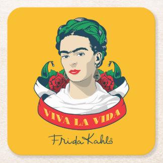 Frida Kahlo | Viva la Vida Square Paper Coaster