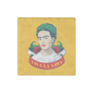 Frida Kahlo | Viva la Vida Stone Magnets