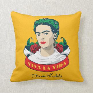 Frida Kahlo | Viva la Vida Throw Pillow