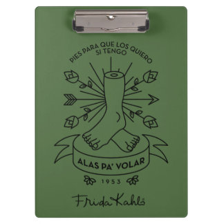 Frida Kahlo | Wings to Fly Clipboard