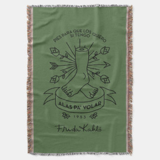 Frida Kahlo | Wings to Fly Throw Blanket