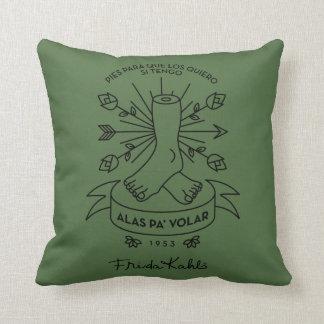 Frida Kahlo | Wings to Fly Throw Pillow