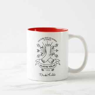 Frida Kahlo | Wings to Fly Two-Tone Coffee Mug