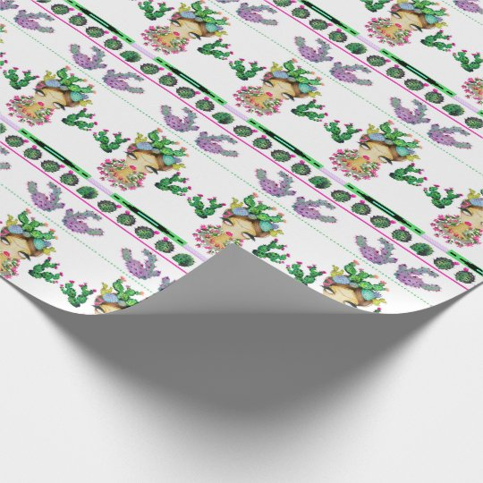 "Frida x Cacti Matte Wrapping Paper, 30"" x 6'"