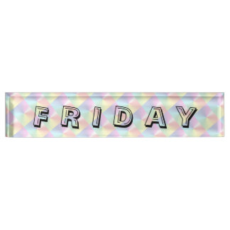 Friday Alphabet Diamond Shimmer Nameplate by Janz