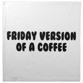 Friday Coffee Napkin