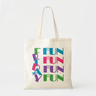 Friday! Fun Weekend Overnight Sleepover Party Tote Bag