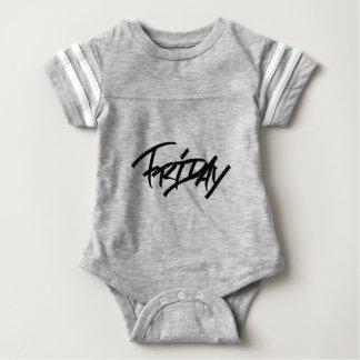 Friday graffiti tag baby bodysuit