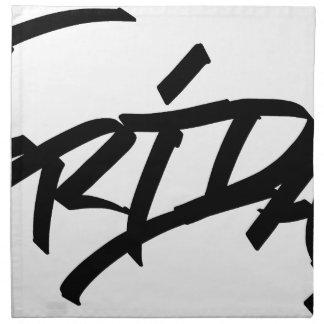 Friday graffiti tag napkin