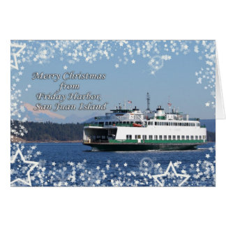 Friday Harbor Ferry Christmas Happy Holidays Card