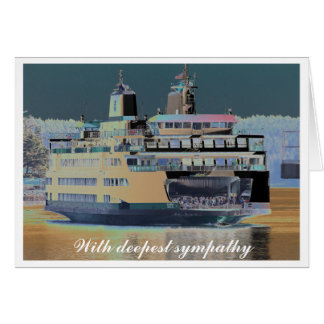 Friday Harbor Ferry San Juan Island Coming to Dock Card