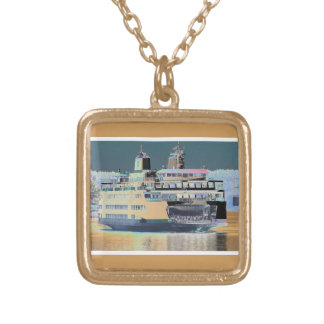 friday harbor ferry San juan island  | ferry land Gold Plated Necklace