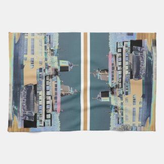 friday harbor ferry San juan island  | ferry land Kitchen Towel