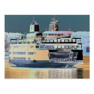 friday harbor ferry San juan island  | ferry land Postcard