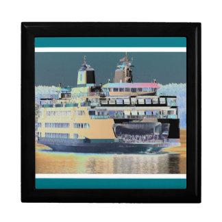 friday harbor ferry San juan island  | ferry land Trinket Box