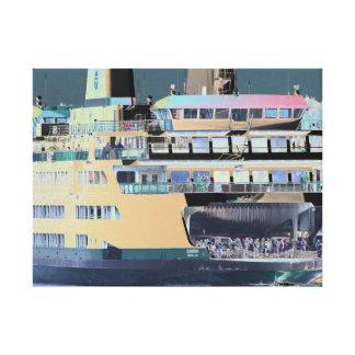 Friday Harbor Ferry San Juan Island - Photo-Graph Canvas Print