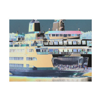 Friday Harbor Ferry San Juan Island - The Samish Canvas Print