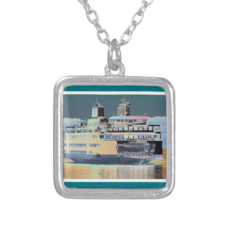 Friday Harbor Ferry San Juan Island - The Samish Silver Plated Necklace