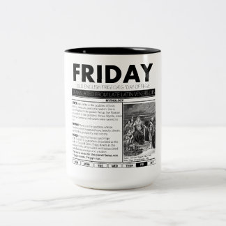 FRIDAY & THE MYTH BEHIND IT:  one of seven cups