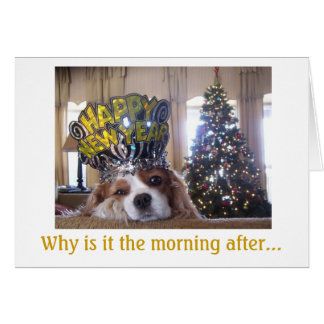 Friday's New Year Hangover Card