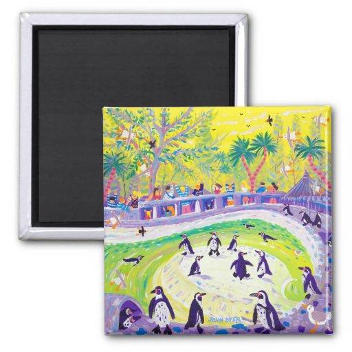 Fridge Art: Peckish Penguins Fridge Magnet