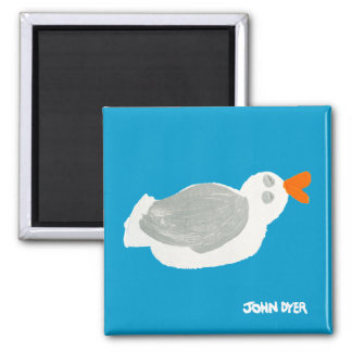Fridge Art: Seagull Square Magnet