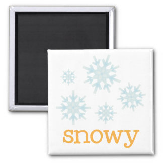 Fridge Weather - SNOWY Magnet