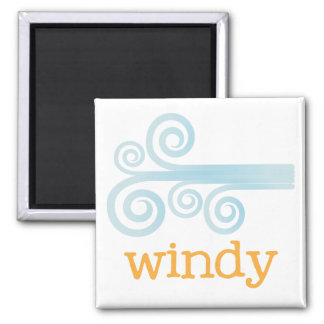 Fridge Weather - WINDY Square Magnet