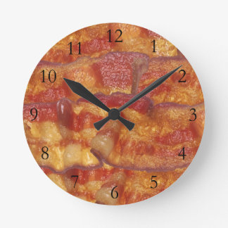 Fried Bacon Strip Round Clock
