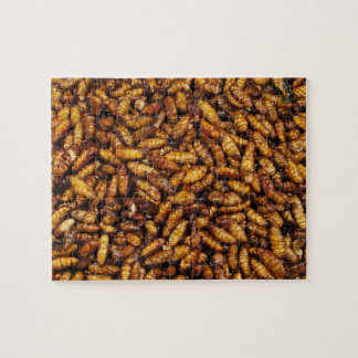 Fried Bamboo Worms ... Thai Street Food Jigsaw Puzzle