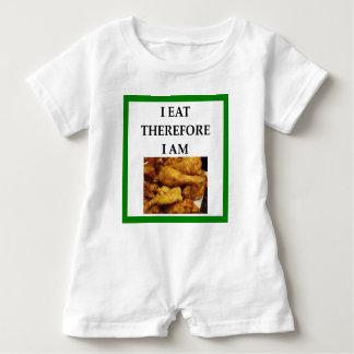 fried chicken baby romper