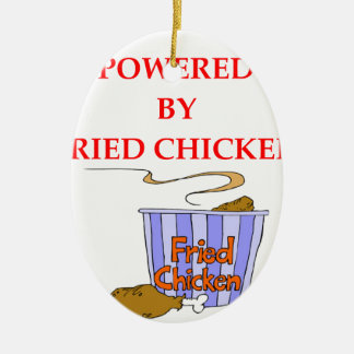 FRIED CHICKEN CERAMIC OVAL ORNAMENT