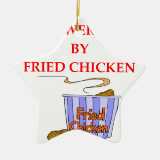 FRIED CHICKEN CERAMIC STAR ORNAMENT