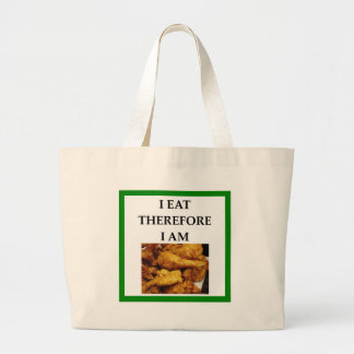 fried chicken large tote bag