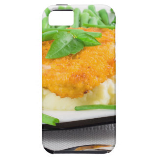 Fried chicken, mashed potatoes and green beans iPhone 5 case