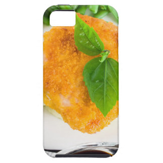 Fried chicken, mashed potatoes and green beans iPhone 5 cover
