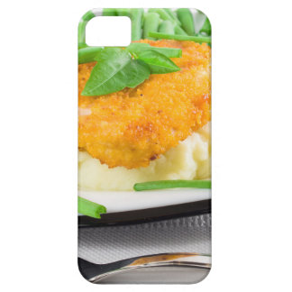 Fried chicken, mashed potatoes and green beans iPhone 5 covers