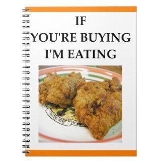 fried chicken notebooks
