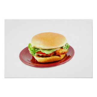 Fried Chicken Sandwich Poster
