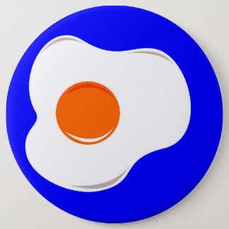 Fried egg 6 inch round button