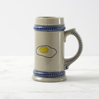 Fried Egg Cartoon Drawing Poached Eggs Sunny Side Beer Stein
