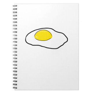 Fried Egg Cartoon Drawing Poached Eggs Sunny Side Notebooks