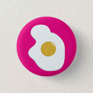 Fried EGG companion badge 1 Inch Round Button