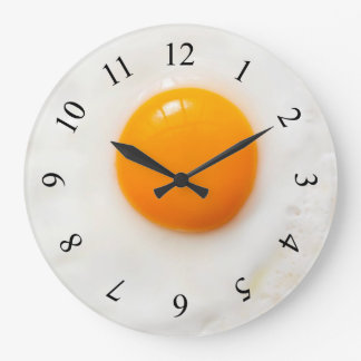 fried egg kitchen Wall Clock