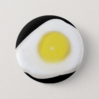 Fried Egg on Black 2 Inch Round Button