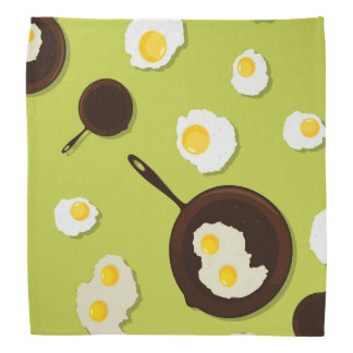 Fried Eggs Fun Food Design Bandanna