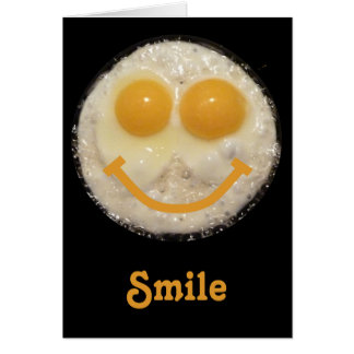 Fried Eggs Happy Face Blank Notecard